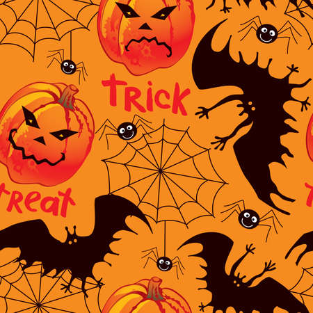 spider net: Halloween seamless background