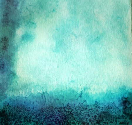 blurring: Blue Vintage aquarelle background