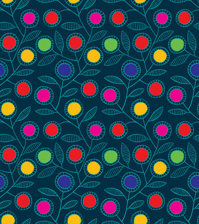 Abstract colorfull floral background