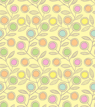 Abstract floral seamless background Vector