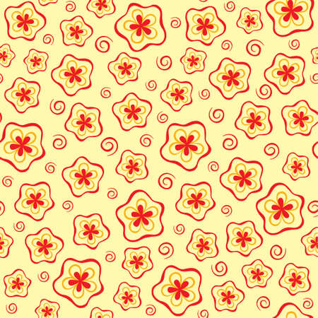 Abstract seamles floral pattern Vector