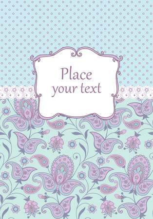 Scrapbook vintage background with paisley Vector