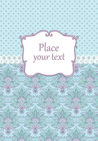 Scrapbooking vintage background with damask background Vector