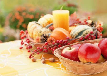 Halloween decor in a autumn garden Reklamní fotografie
