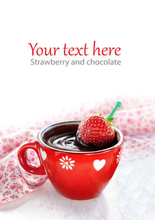 strawberry chocolate: Strawberry in hot Chocolate Covered Strawberries for Valentines Day