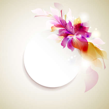 flower decoration: Tender background with abstract flower Illustration