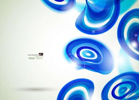 kifejező: absztrakt expresszív háttér kék körök