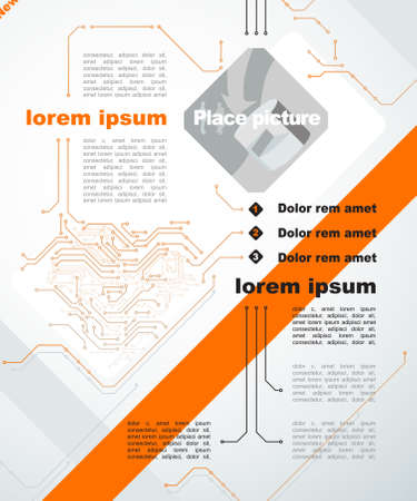 brochure template, Abstract background of digital technologies  Vector