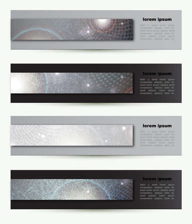 set of four Headers of the of techno Stock Vector - 13752432