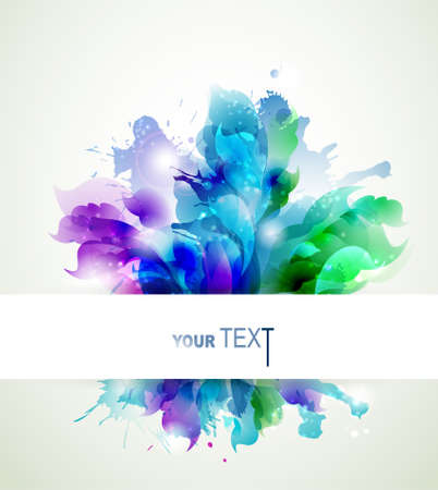 Abstract background with blue, pink and green elements  Illustration