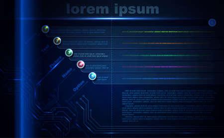 Blue abstract brochure of modern digital technologies  Stock Vector - 14225898
