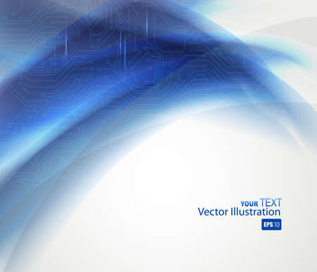 blue Abstract background of digital technologies Stock Vector - 14225854