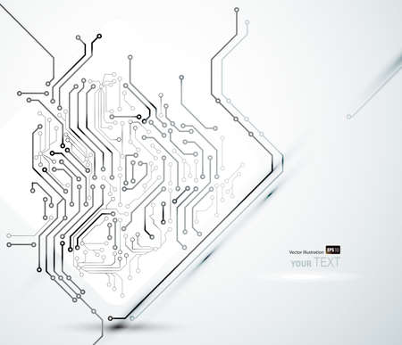 high tech: White  Abstract background of digital technologies