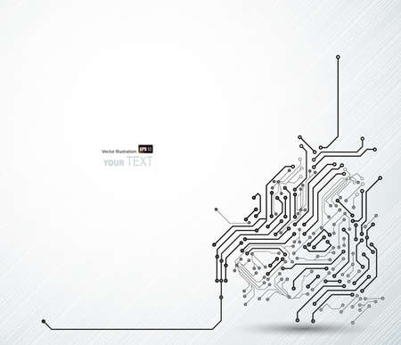 integrated: Abstract background of digital technologies  Illustration