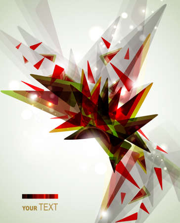 expressive: abstract expressive figure formed by triangles  Illustration
