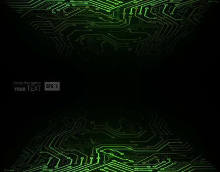high way: Green Abstract background of digital technologies  Illustration