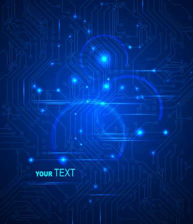 blauwe Abstracte achtergrond van digitale technologieën Vector Illustratie