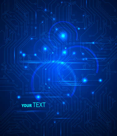 blue Abstract background of digital technologies  Vector