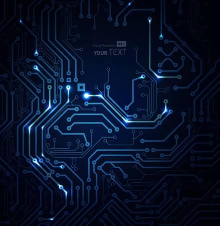 fondo azul abstracto de las tecnologías digitales