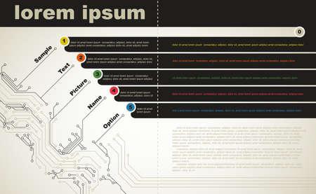 Abstract broszura nowoczesnych technologii cyfrowych