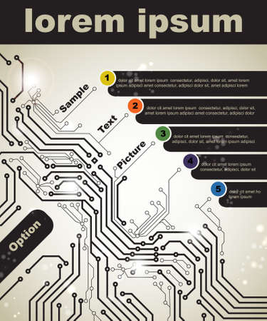 motherboard: Abstract poster of modern digital technologies