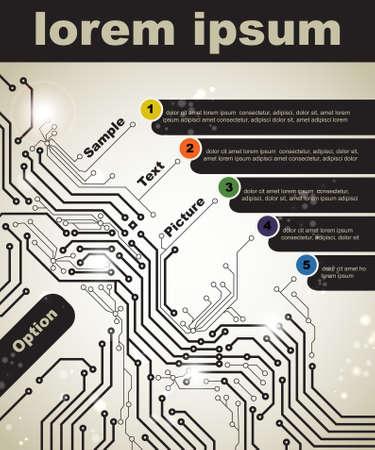 circuitboard: Manifesto astratto di moderne tecnologie digitali