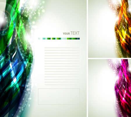 martinet: fond d�cor� par abstraites multicolores lignes rapides