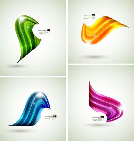 Set of four abstract symbols  Vector