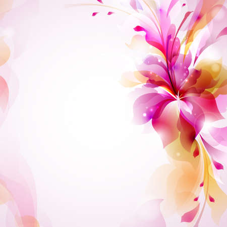 Tender background with abstract flower  Vector