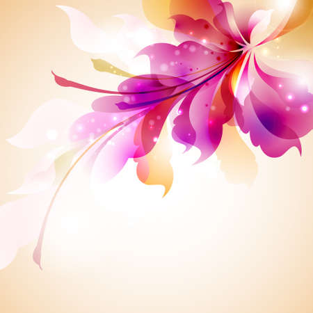 abstract flowers: Tender background with abstract flower