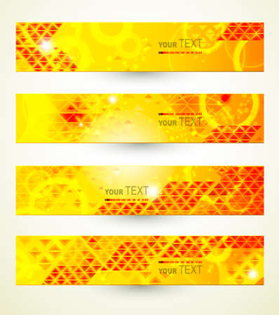 Headers set of four banners of the abstract  Vector