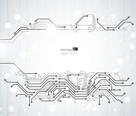 impulse: White Abstract Hintergrund der digitalen Technologien