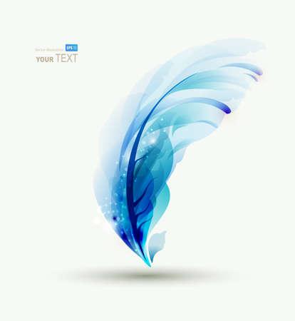 piuma bianca: Una piuma astratta scritta blu