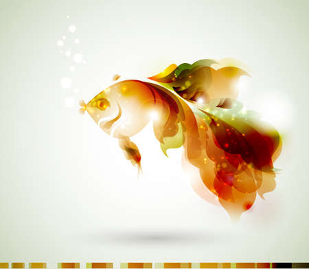 gold fish: Abstract gold fish for design