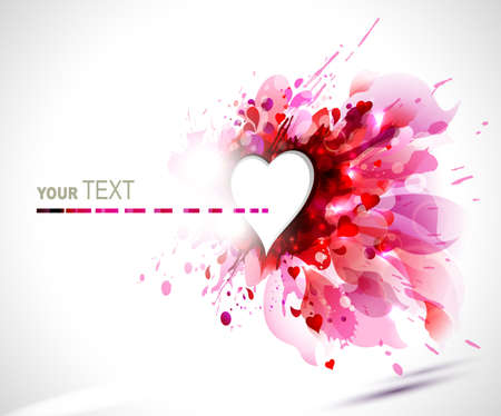greeting-card with The Valentine s day  Vector