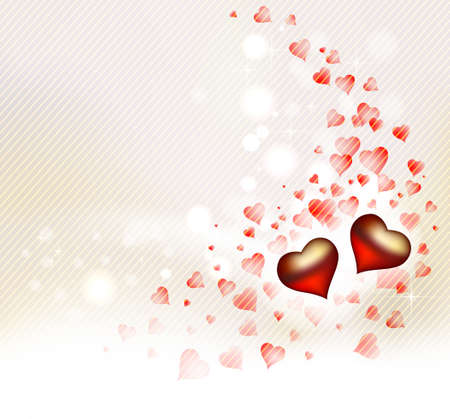 happy valentine s day: greeting-card with hearts of The Valentine s day  Illustration