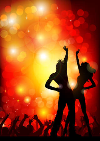 dancing couple: festive party in the nightclub