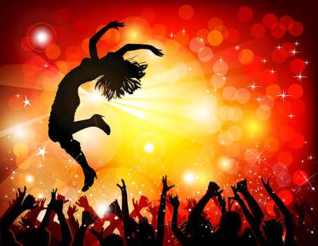 Dancing girl in the nightclub