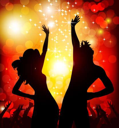 disco dancer: festive party in the nightclub