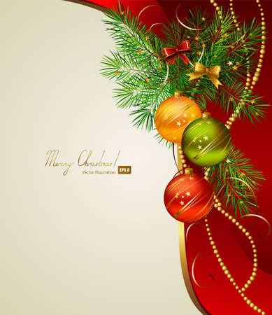 Fondo de Navidad con tres bolas de la noche