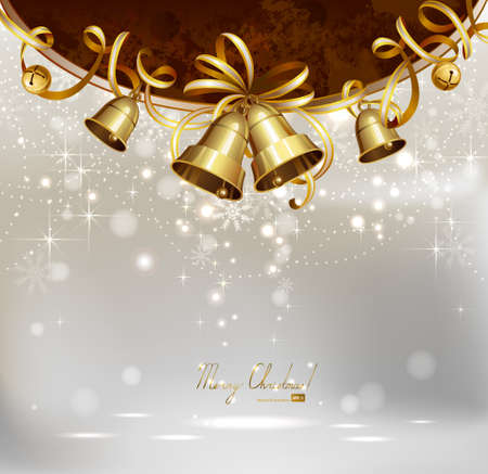 festive bells on the Christmas background