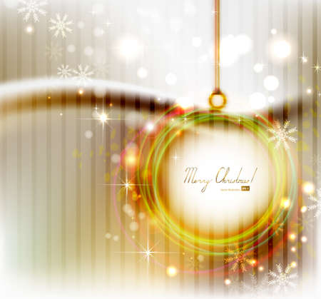 evening ball: Bright Christmas background with abstract evening ball