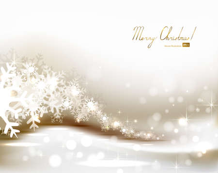 winter wish: light Christmas background with snowflakes