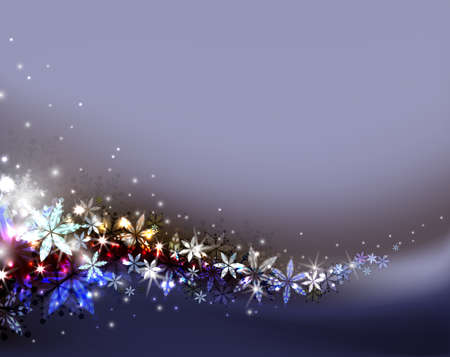 congratulate: dark Christmas background with snowflakes