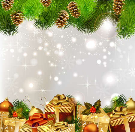 glimmered: Christmas background with Christmas gifts