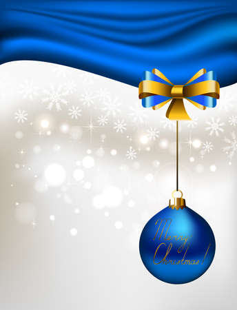 glimmered: glimmered Christmas background with blue evening ball