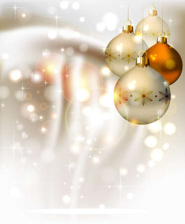 glimmered: elegant glimmered Christmas background with shine evening balls