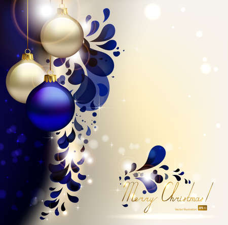 glimmered: glimmered Christmas background with evening balls  Illustration