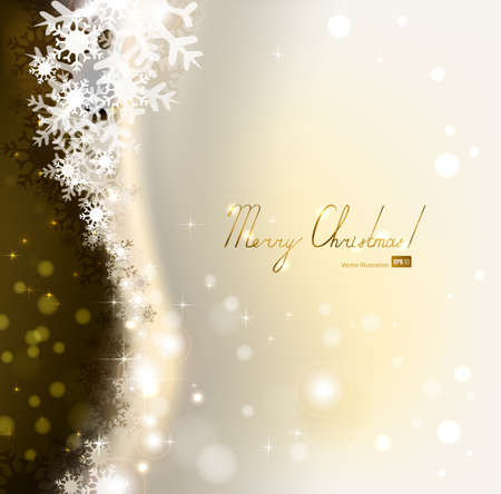 dark beige: Christmas background with snowflakes