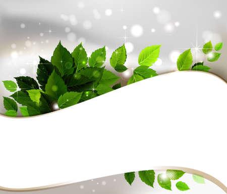 design of fresh green leaves  Vector